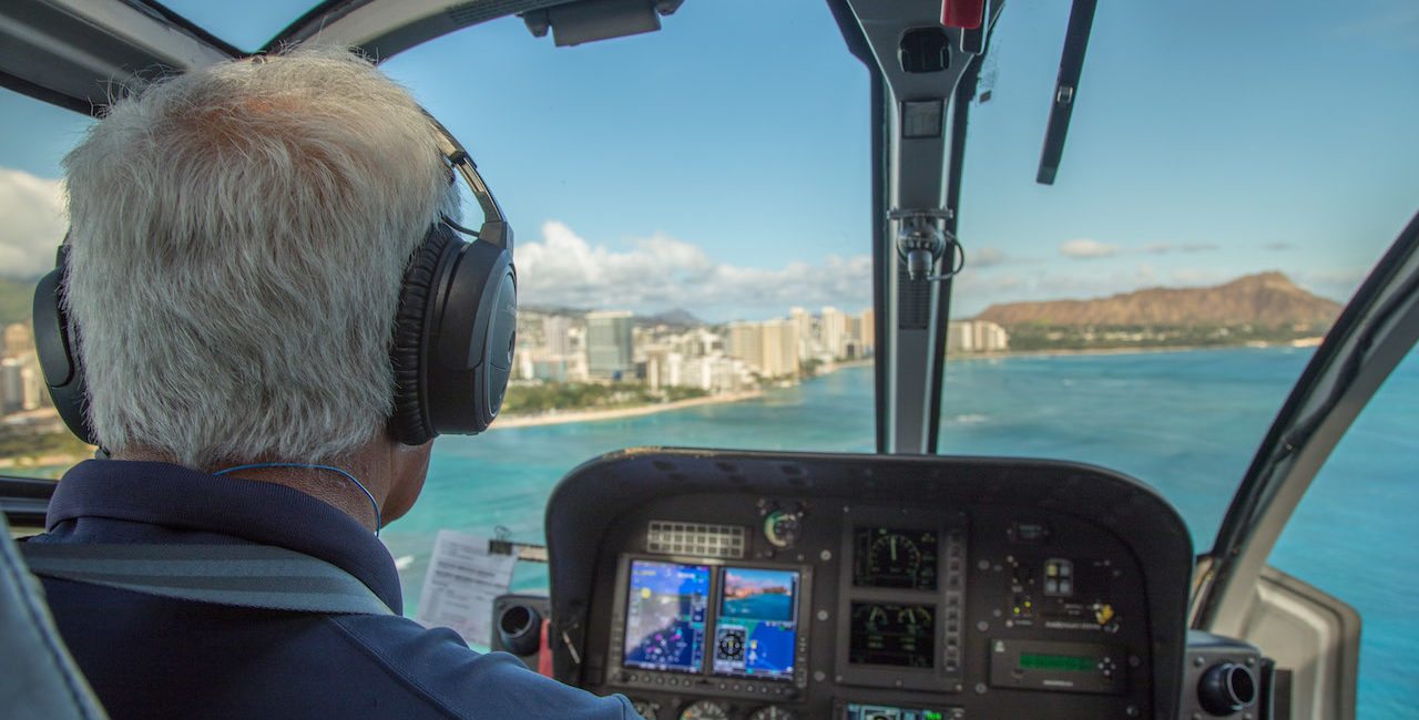 Inside View of Blue Hawaiian Helicopter